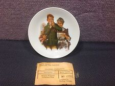 """Vintage Norman Rockwell Collectors German 6"""" 'Helping Mother' Plate Wall Decor"""