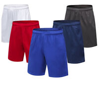 Mens Athletic Running Shorts with Pockets Basketball Training Casual Trousers