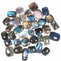 Natural Labradorite 36 Pcs Wholesale Lot 21mm-37.76mm Loose Cabochon Gemstones