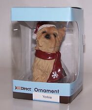 Santa Yorkie Puppy Dog Christmas Ornament Dr Direct Nib Sealed
