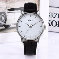 Luxury Men's Casual Watch Leather Strap Quartz Analog Slim Dial Wrist Watches