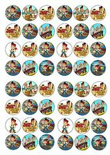 JAKE AND THE NEVERLAND PIRATES EDIBLE RICE WAFER PAPER CUP CAKE TOPPER X48