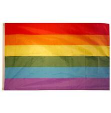 LARGE RAINBOW FLAG  GAY PRIDE FLAG 5FT x 3FT FANS RAINBOW FLAG UNITED KINGDOM
