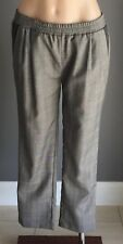 NWOT GOLD HAWK Elasticised Waist Check Print 3/4 Length Pants Size S/10