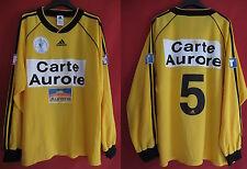 Camiseta usada Copa de Francia Adidas Postal Aurore Amarillo No. 5 Partido - XL