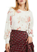 Free People Top Arielle Printed Floral Long Sleeve Shirt Women Sz M NEW NWOT 427