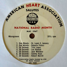 "AMERICAN HEART ASSOCIATION - NAT. RADIO MONTH - MAY, 1967 - 7 RADIO SPOTS - 7"""