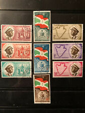 9 DIFFERENT COMPLETE SETS OF BURUNDI STAMPS - CANCELLED LH