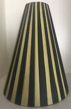 "ORIGINAL BARSONY BLACK LADY LAMP PLASTIC RIBBON LAMPSHADE ""AS FOUND"" VG VINT CON"