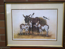 More details for patrick a oxenham. framed limited edition print of donkeys & magpies.