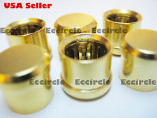 20X RCA Plug Copper Caps Cover Noise Stoppers 24K Gold Plated Audio Top Quality