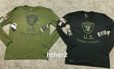2018 Oakland Raiders Nike Salute to Service Long Sleeve Shirt ALL SIZES Vegas