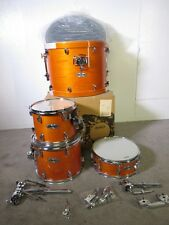 Mapex M Series 4 Piece Kit - Transparent Honey Amber - Birch Shells