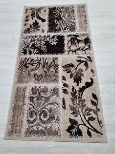 Rug BEIGE BROWN 80 x 150 cm Soft Touch Living Room Quality TURKISH FLOOR RUGS
