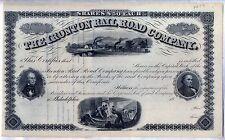 The Ironton Railroad Company Stock Certificate Pennsylvania