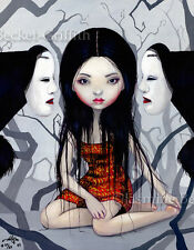 Faceless Ghosts gothic Japan Noh Mask art Jasmine Becket-Griffith CANVAS PRINT