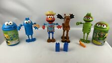 Kid K'NEX Sesame Street Sets Lot Cookie Monster Oscar the Grouch Elmo Horse