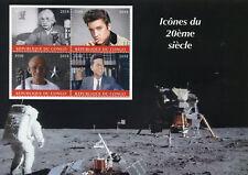Congo 2018 CTO Elvis Presley Einstein JFK Kennedy Gandhi 4v M/S Space Stamps
