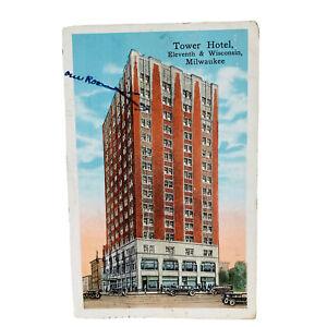 Milwaukee Wisconsin Tower Hotel Vintage Postcard