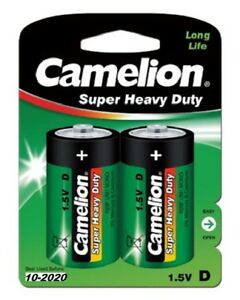 1x Camelion Mono D R20 Zink-Kohle-Batterie 1,5V Mono D im 2er Blister