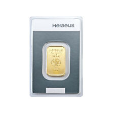 10 Gramm Goldbarren Heraeus Gold 999,9 Feingold Barren