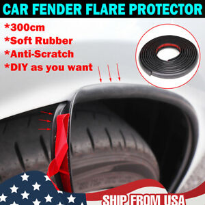 Car Rubber Fender Flare Extension Door Edge Seal Strip Cover Protector Universal