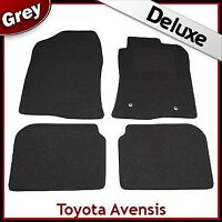 TOYOTA AVENSIS Mk2 2003-2008 Tailored LUXURY 1300g Carpet Car Floor Mats GREY