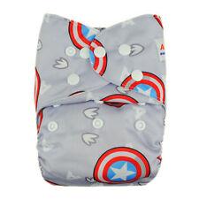 Alva Baby Adjustable Washable Reusable Pocket Cloth Diaper Nappy+1Insert  YA54