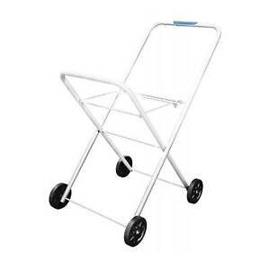 Hills Classic Laundry Trolley For Clothes Washing Basket Collapsible Wheels Cart