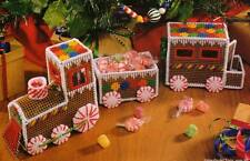 GINGERBREAD TRAIN CHRISTMAS CANDY PLASTIC CANVAS PATTERN INSTRUCTIONS