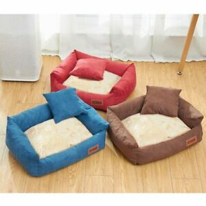 Inhouse Dog Bed Warm All Season Pet Mat Soft Suede Bed Sofa for Small Medium Dog