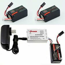 2 X 2500mAh Battery For Parrot AR Drone 2.0 + Balance Charger