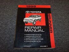 1999 Toyota 4Runner Shop Service Repair Manual Vol1 SR5 Limited 2.7L 3.4L V6