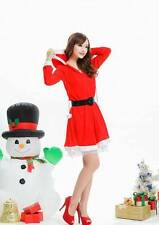 Hot Sexy Lady Women Christmas Red Santa Claus Costume Outfit Dress Set Lingerie
