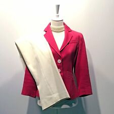 Ann Taylor Petites   Pink Cotton Twill Blazer - Size 2