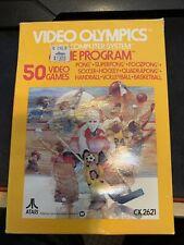 Atari 2600 Video Olympics Game Cartridge Complete in Box CIB