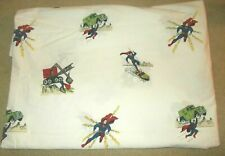 Pottery Barn Kids DC Comics Superman Twin Flat Sheet 100% Cotton