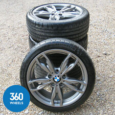 "GENUINE BMW 1 & 2 SERIES 18"" M DOUBLE SPOKE 436 ALLOY WHEEL TYRE SET F22 M135i"
