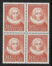 GREENLAND 1958 Hans Egede Block of 4 SG 44 MNH/** (CV £45+)