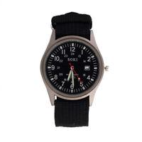 1X(SOKI Quartz Army Sport Men's Wrist Watch Dial Calendar Watches Alloy Bla 9S8)