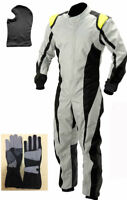 Go Kart Cordura Suit-Black-White-Yellow-(Free Gift Gloves & Balaclava) Mega sale