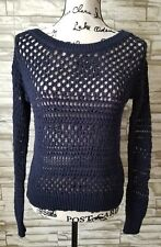 American Eagle Boatneck Sweater size XS extra small - navy blue/sparkle