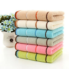 Quick Drying Cotton Towel Stripe Face Hand Bath Cloth Bathroom Absorbent