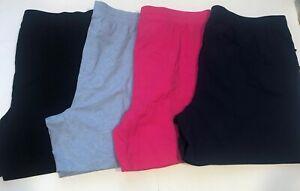 Karen Scott Women's Comfy Stretchy Sport Shorts, Plus Sizes Blues/Black/Pink
