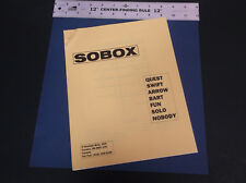 VINTAGE SOBOX SAILPLANE CATALOG W/PRICE LIST QUEST SWIFT ARROW BART  *VG-COND*