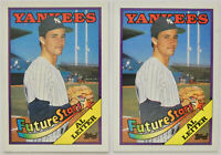 1988 TOPPS BASEBALL Al Leiter 2x Error Rookie Card Lot NM #18 Yankees Marlins