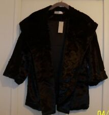 "NATORI SIZE S FAUX FUR TOPPER WITH WIDE COLLAR CHEST 37""  HSN"