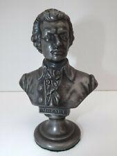 19th Century Pewter Bust Of Wolfgand Amadeus Mozart