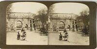 Italia Roma Arc Constantin E Colosseo, Foto Stereo Vintage Analogica PL60L11