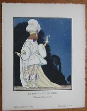 Gazette du Bon Ton Pochoir Art Deco La Pantoufle de Vair by Marty - 1920